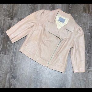 Classiques Entier cropped linen jacket-Sz XL. EUC!